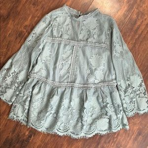 Miss Chievous Lace Tiered Victorian Top